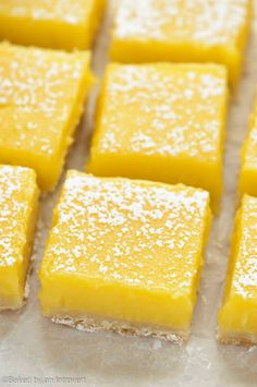 These simple lemon bars are sure to win your heart. They're zesty, slightly sweet, and beyond easy to make! Whip up a batch today!