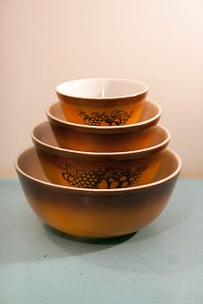 Vintage Corning Pyrex Mixing Bowl Set Mint In Box Never Opened Old ...