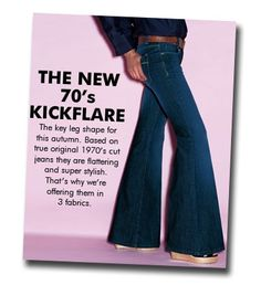 Now THESE were flared!! We used to call them elephant legs. Move over bell-bottoms.