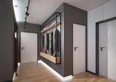 Apartment in Sofia - Cholakov-Gongalov Architects Flur Design, Apartment Entrance, Modern Hall, Flooring For Stairs, Hall Furniture, Hall Interior, Hallway Designs, Patio Doors, Elegant Homes