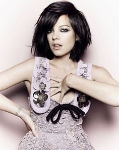 Lily Allen in Elle UK August 2010  akw:    Lily Allen, Elle UK, August 2010 via barneysfascinations  Lily looks heavily altered but I do love that choppy hair cut and smudgy eye make-up.    (via fun-in-my-life)
