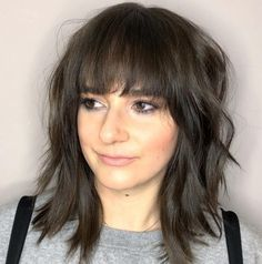 5 of the iest hairstyles for all hair lengths medium curly hairstyles with bangs – fashioomo medium length hairstyles with … Bangs With Medium Hair, Medium Length Hair With Layers, Medium Hair Cuts, Short Hair Cuts, Medium Hair Styles, Short Hair Styles, Medium Shag Haircuts, Haircuts With Bangs, Haircut Medium