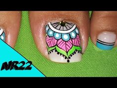DISEÑO DE UÑAS PARA PIES FLORES SENCILLAS - FLOWERS NAIL ART - NLC - YouTube Pedicure Nail Art, Manicure, Tattoo Drawings, Tattoos, Body Piercings, Toe Nails, Nail Art Designs, Turquoise, Youtube