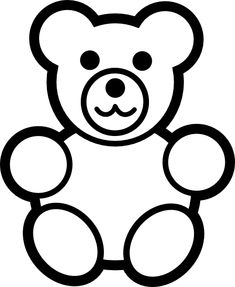 Teddy Bear Outline Coloring Page