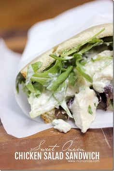 Sweet Onion Chicken Salad Sandwich
