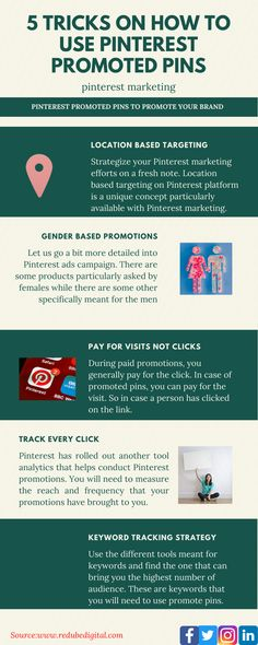 Pinterest has launched two new tools to its kitty – DIY promoted pins and analytics. Yes, now Pinterest is following the footsteps of other social media platforms by allowing paid promotions. DIY promoted pins tool allows businesses of any size to promote their Pins to reach more people and get more visits to their website. Pin Tool, Business Profile, Pinterest For Business, Target Audience, Digital Media, Pinterest Marketing, Being Used, Platforms, Effort