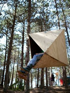 urban camping: creative art tents open in amsterdam