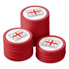 Georgia Poker Chip Set - home gifts ideas decor special unique custom individual customized individualized