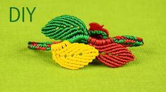 How to make a multicolored macrame leaf bracelet. You can make this bracelet in a set with necklace and earrings. See links below. How to Necklace - http://y...