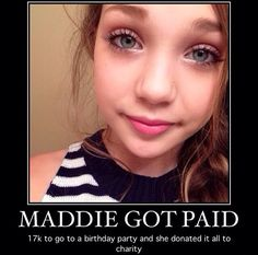 Such a sweet thing to do Maddie (I want to be on dance moms ) WAY  TO GO MADDIE!✌️