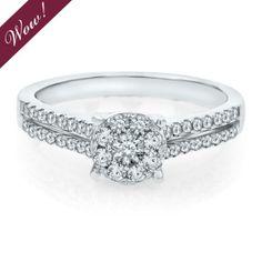 Helzberg Diamond Symphonies® 1/2 ct. tw. Diamond Engagement Ring in 14K Gold