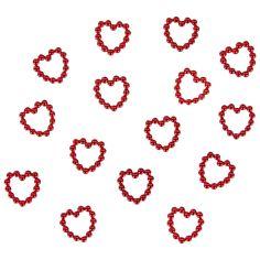 Perlenherzen Herz Konfetti Streudeko Tischdeko Hochzeitsdeko - rot in Dekoration  • Konfetti