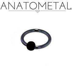 Anatometal: Stainless Steel Captive Bead Ring with Rubber