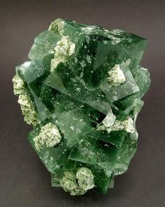 Flourite with Pyrite and Calcite