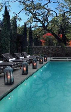 The spacious, Hotel Yountville is a residential, French farmhouse–style hotel right in the middle of town. Yountville, CA Swimming Pool Lights, My Pool, Swimming Pool Designs, Swimming Pools, Lap Pools, Indoor Pools, Pool Lounge Chairs, Lounge Chair Design, Arm Chairs