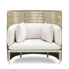 Ethimo Esedra Lounge High Back Armchair Dark Grey Rattan Armchair, Rattan Furniture, Sofa Chair, Outdoor Furniture, Garden Table And Chairs, Garden Sofa, Luxury Office Chairs, High Back Armchair, Scandinavian Dining Chairs