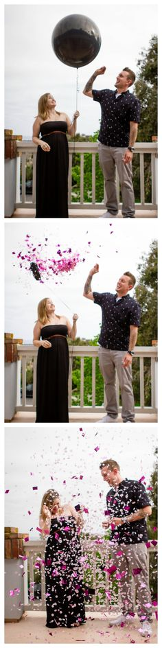 How to do a confetti balloon pop gender reveal.