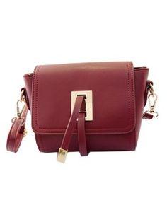 Shop Burgundy Mini Square Shoulder Bag from choies.com .Free shipping Worldwide.$35.99