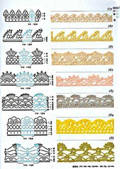 Esses bicos de crochê são sempre úteis para utilizar em panos de prato, guardanapos ou mesmo em cueiros de bebês ou fronhas.