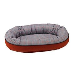 Designer Orbit Bed in Polo Plaid Fabric X Large 50 x 36 x 9 in * Click image to review more details.