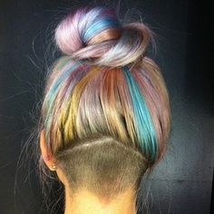 triangle undercut  Undercut edition: | 29 Creative And Colorful Hair Trends To Try This Summer