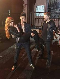 "Dom looks like ""Bruh you stole my luvr."" And Magnus' eye makeup says, ""STFU JACE"""