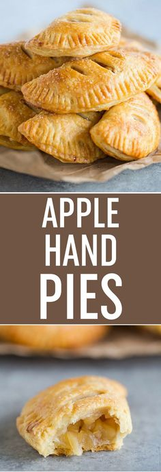 Apple Hand Pies - An amazing flaky pastry crust paired with an apple and cinnamon filling. DELICIOUS and the perfect portable dessert! via (Baking Desserts Apple) Apple Desserts, Apple Recipes, Just Desserts, Dessert Recipes, Baking Desserts, Apple Hand Pies, Fruit Hand Pies, Weight Watcher Desserts, Dessert Oreo