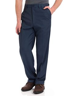 Men's Cool 18 Flat Front Pants - Heather Blue ** Click on the image for additional details. (This is an affiliate link) #slimfitpants Mens Dress Pants, Slim Fit Pants, Flats, Cool Stuff, Fitness, Casual, Blue, Shirts, Collection