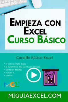 27 Ideas De Excel Básico Principiantes Datos Hojas De Cálculo Cursillo