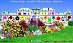 Belvedere Wien, Vienna in Dots Design / Photo © Kekeye Design e. Dots Design, Vienna, Mansions, Eyes, House Styles, City, Blog, Home Decor, Decoration Home