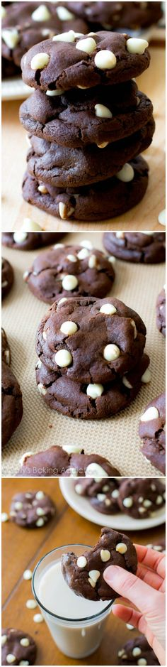 The BEST Chocolate Cookies - they taste like brownies!