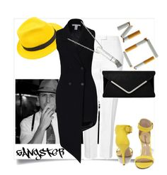 """""""gangster style"""" by ririrara ❤ liked on Polyvore"""