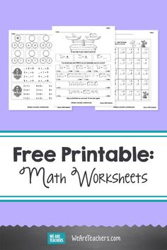 These Free Math Worksheets Are Your New Go-To For Skills Practice. Free edhelper math worksheets are great for math skills practice. They help students build fluency and internalize new concepts. Math Teacher, Teaching Math, Teaching Ideas, Homeschool Math, Homeschooling, Fourth Grade, Third Grade, Math Early Finishers, Free Math Worksheets