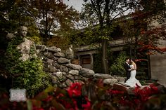 Liberty Grand | Toronto | David and Sherry Photography - Beautiful #couplescape taken by fountain the courtyard at Liberty Grand Entertainment Complex