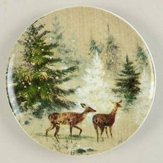 Pottery BarnDeer in Snow at Replacements, Ltd