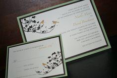 Bird and branches wedding invitation. $5.00, via Etsy.