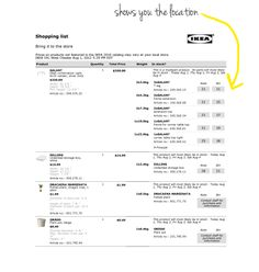 Make your shopping list online and print out a copy. IKEA tips and tricks Ikea Shopping, Shopping Hacks, Online Shopping, My Kind Of Love, Store Hacks, Shop House Plans, Shop Till You Drop, Shop Organization, Shop Icon