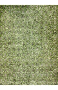 Vendimia Rugs Overdye ACC574A Green Rug