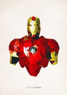 """""""Iron Man"""" gefunden auf www.polygonheroes.com gepinned von der Hamburger Werbeagentur BlickeDeeler -> www.BlickeDeeler.de"""