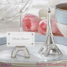 Beterwedding decoratie groothandel wj029_eveningin parijs- eiffel toren zilver- beëindigt plaats kaarthouder( 50pcs/lot) huwelijksgeschenk