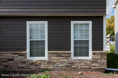 Rich Espresso James Hardie Siding with Versetta Stone® - we install both these products in the Minneapolis area. http://www.replacementwindowsmpls.com