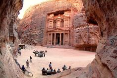 Petra is a historical and archaeological city in the Jordanian governorate of Ma'an, that is famous for its rock-cut architecture and water conduit system.
