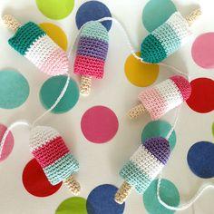 Popsicle Bunting Crochet Pattern (FREE) - http://pinterest.com/Allcrochet