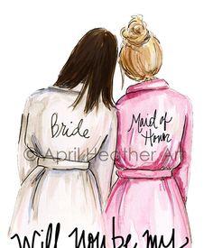 Maid of Honor PDF Download Dark Hair Bride by aprilheatherart