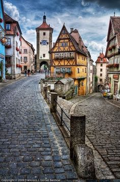 Rothenburg on the Romantic Road in Bavaria, Germany; has 14th-century town wall.
