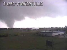 "Tornado seen on the I-35 Parkerville, Texas webcam. ""Eastern portions of Dallas and eastern parts of Fort Worth are both going to get hit by tornadoes,"" AccuWeather.com Expert Senior Meteorologist Henry Margusity said."
