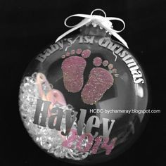 The winter holidays are my favorite to celebrate and craft! This year I decided to make some ornaments for gifts. Baby's 1st Christmas Ornament, Babys 1st Christmas, Baby Ornaments, Christmas Bulbs, Baby Shower Themes, Baby Shower Gifts, Baby Gifts, Shower Ideas, Christmas Projects