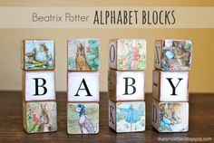 "That's My Letter: ""A"" is for Alphabet Blocks, Beatrix Potter ABC wood blocks"