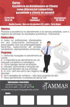 Curso: Excelência no Atendimento ao Cliente diferencial competitivo. Inscreva-se! http://dld.bz/dAjcW  #portoalegre