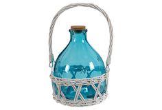 """S/2 10"""" Wide Bee Catcher Vases, Blue on OneKingsLane.com"""